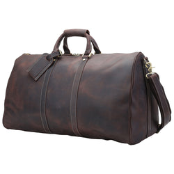 "Polare 23"" Ambassador Style Retro Weekender Bag (Dark Brown)"