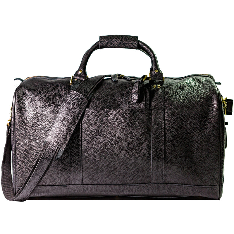 "Polare 22"" Soft Leather Weekender Duffel Bag (Front)"