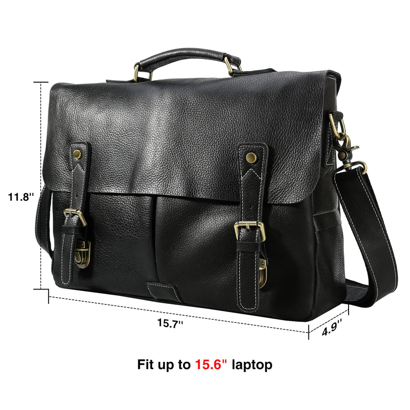 Polare Casual Leather Messenger Work Bag (Dimension)