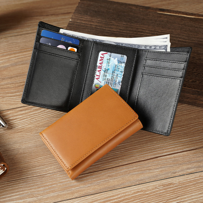 "Polare 17"" Real Italian Leather Laptop Case Professional Briefcase Business Bag (Dark Brown, Dimension)"