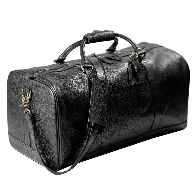 "Polare 22"" Soft Leather Weekender Duffel Bag"