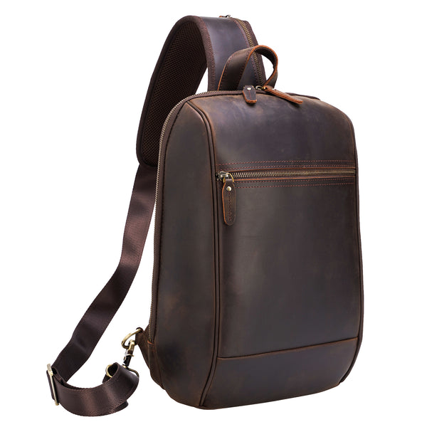 Polare Full Grain Leather Travel/Hiking Daypack Rucksack