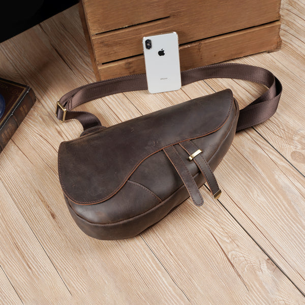 Polare Modern Style Full Grain Leather Sling Bag