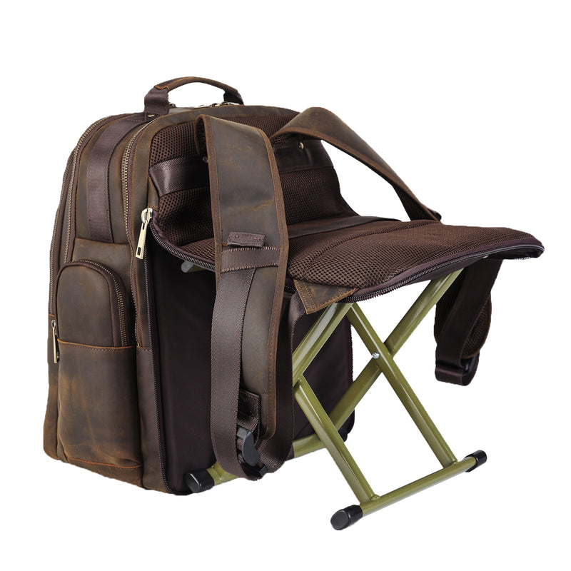 Polare Leather Multi-Functional Backpack Stool Combo (Stool Combo)