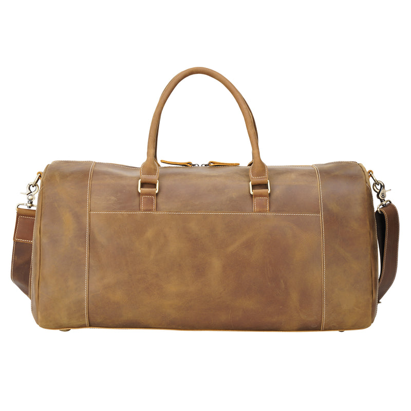 "Polare 22"" Duffel Retro Leather Gym Weekender Bag (Back)"
