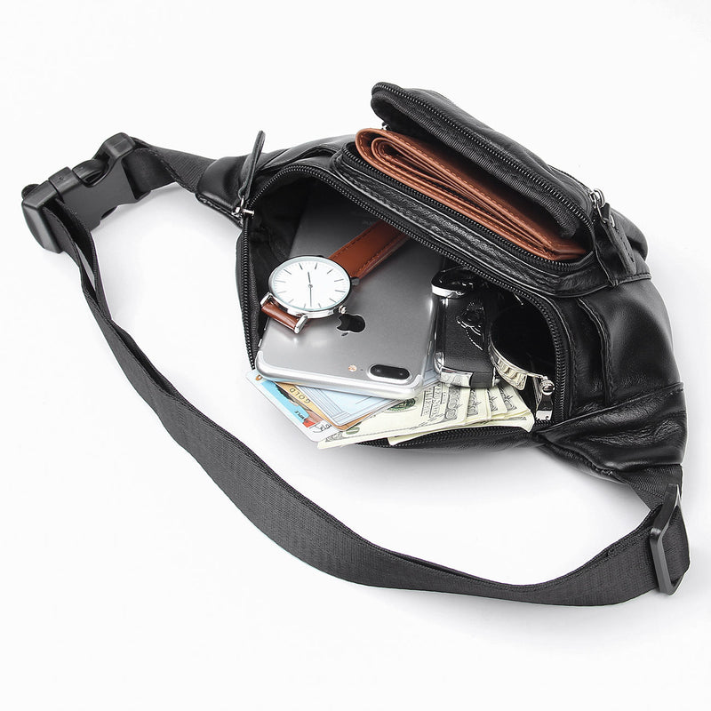 Polare Small Genuine Leather Fanny Pack/Waist Bag (Inside)