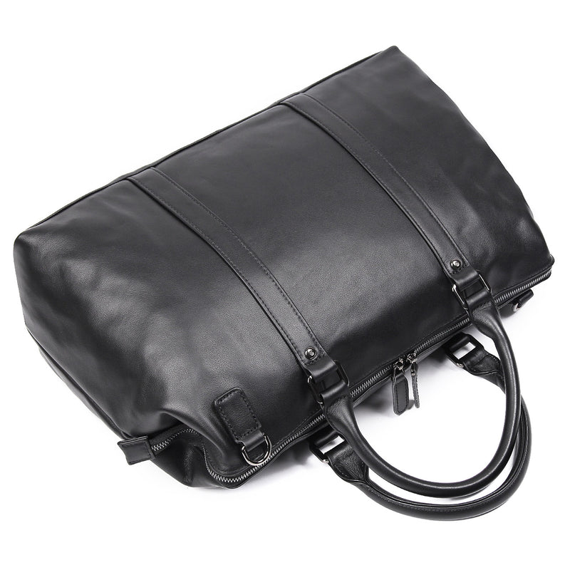 "Polare 18"" Soft Leather Airplane Duffle Bag (Top)"