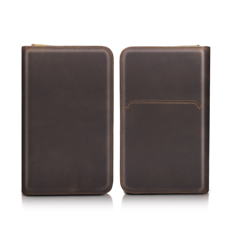 Polare Leather Passport Holder Cover Case (Front and Back)