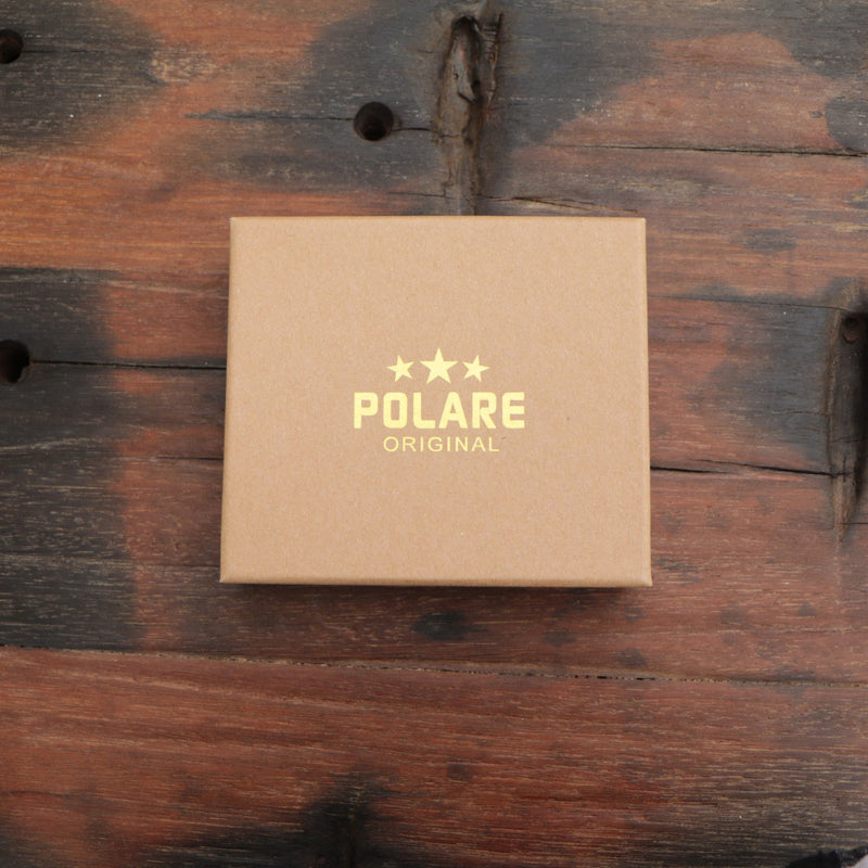 Polare RFID Blocking Cowhide Leather Bifold Wallet with 2 ID Windows (Gift Box)