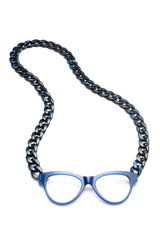 JOEN Necklace Reading Glasses Indigo Marble