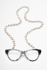 Baroque Cultured Pearl Soft Grey Necklace Reading Glasses