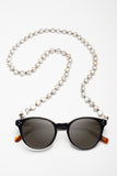 ELEMENTS PEARLS SOFT GREY GLASSES CHAIN