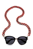 JOEN Glasses Chain Cranberry Marble