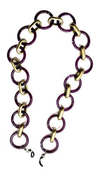 AMORE ITALIA Glasses Chain Goddess Purple Agate and Gold.
