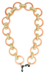 AMORE ITALIA Glasses Chain Goddess Coral and Sage.