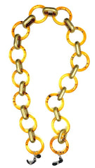 AMORE ITALIA Glasses Chain Goddess Light Amber and Gold.