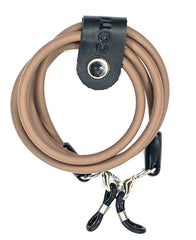 ELEMENTS Rubber Glasses Cord in Light Brown.
