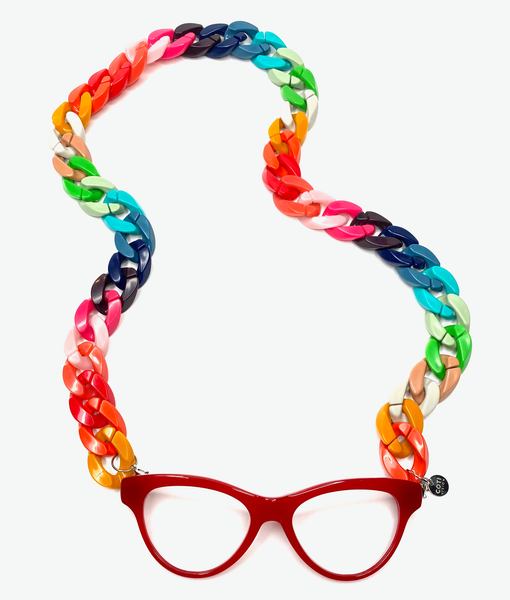 RAINBOW Necklace Reading Glasses