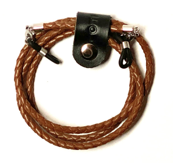 ELEMENTS Bolo Leather Glasses Cord in Light Brown