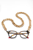 JOEN Glasses Chain in Light Brown Marble
