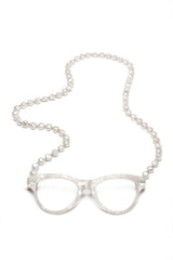 Baroque Cultured Pearl Classic White Necklace Reading Glasses