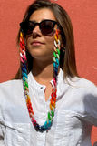 AMORE ITALIA Glasses Chain Rainbow Shiny