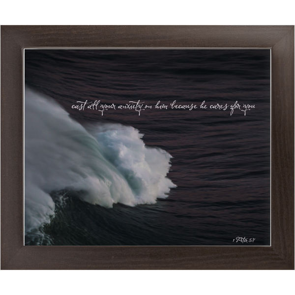 1 Peter 5:7 Framed Wall Art
