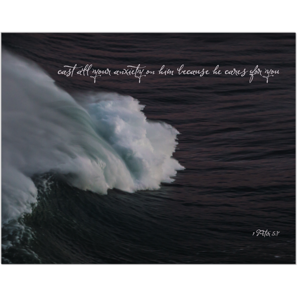 1 Peter 5:7 Waves Print