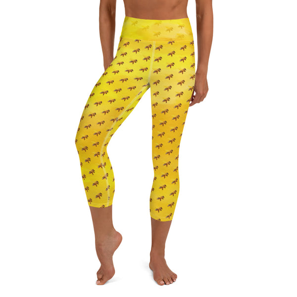 Honey Bee Capri Yoga Leggings