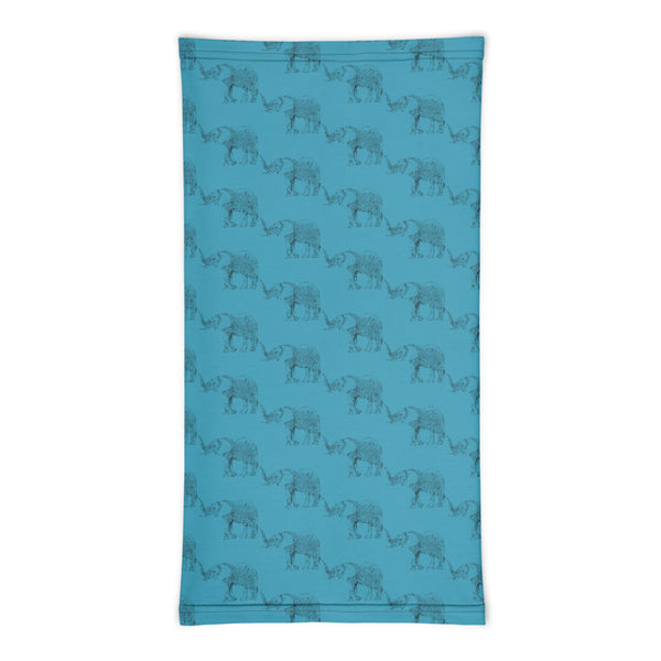 Elephants on Parade Neck Gaiter - face mask, headband, infinity scarf