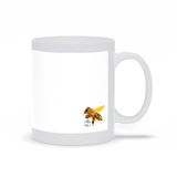 Queen Bee Mug, Bumble Bee, Ceramic Large Mug 11 Or 15 Ounce, White