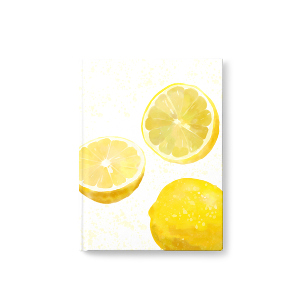 Watercolor Lemon Journal