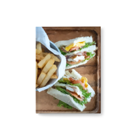 Club Sandwich with Fries Journal