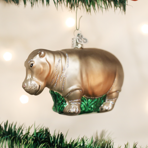 Old World Christmas Hippopotamus Ornament