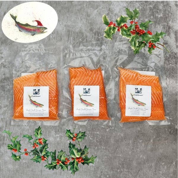 3 Twin Packs - fresh ChalkStream® Trout steaks CHRISTMAS DELIVERY