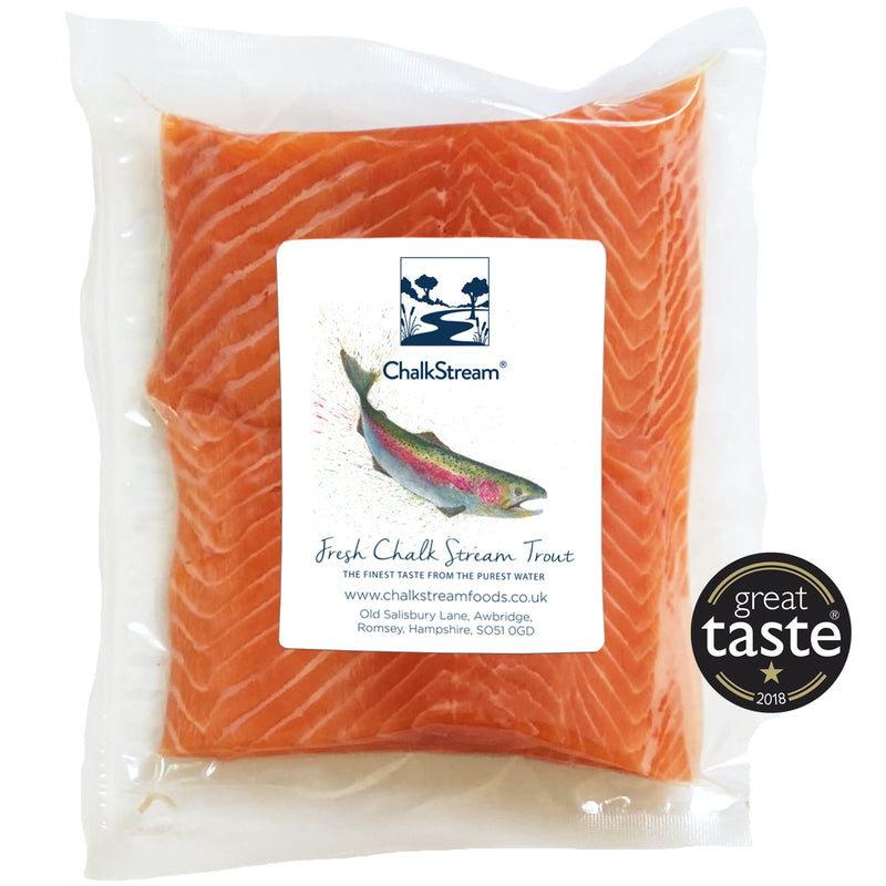 3 Twin Packs - fresh ChalkStream® Trout steaks (6 x 130g steaks)