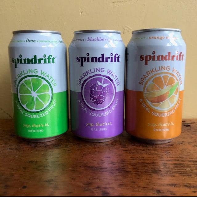 Spindrift Sparkling Water 12 oz can