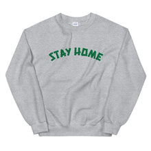 Load image into Gallery viewer, Stay Home (Coronavirus) Crewneck Sweater - Grey/Green