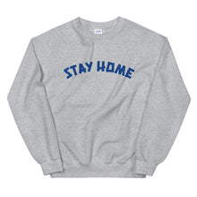 Load image into Gallery viewer, Stay Home Crewneck Sweater - Grey/Blue