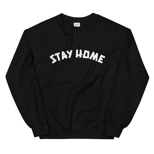 Stay Home (Coronavirus) Crewneck Sweater - Black/White