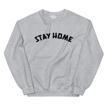 Load image into Gallery viewer, Stay Home (Coronavirus) Crewneck Sweater - Grey/Black