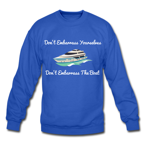 Below Deck Crewneck Sweatshirt - royal blue