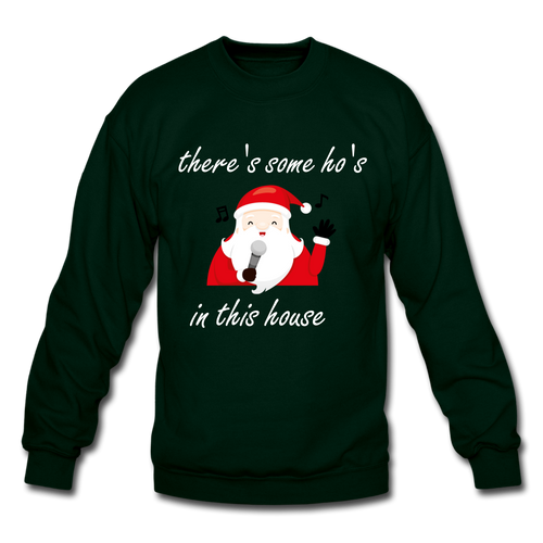 A Very WAP Christmas Crewneck Sweatshirt - forest green