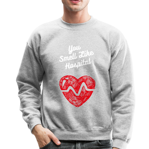 RHOSLC - You Smell Like Hospital Mary - Crewneck Sweatshirt - heather gray