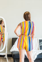 Load image into Gallery viewer, All About The Stripes - multi colored romper