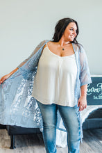 Load image into Gallery viewer, Summer Breeze - light blue lace kimono