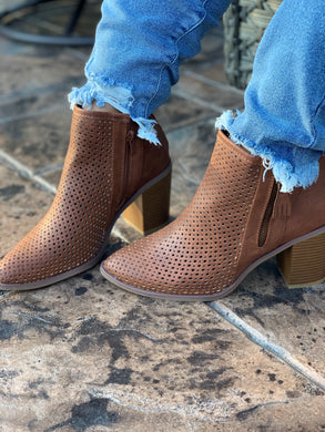 Perforated Patterned Booties