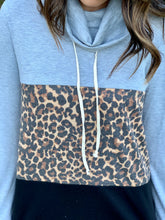 Load image into Gallery viewer, Cheetah Color Block Cowl Top