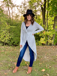Twist High Low Tunic Top