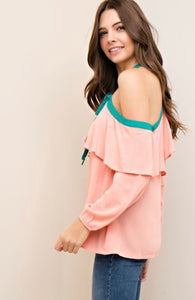 What A Girl Wants - Peach off the shoulder top